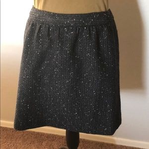 Black skirt with flecks  of metallic silver